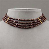 14k Vermeil Chocolate Pearl Collar Necklace