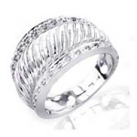 14k White Gold 0.10 Cttw. Diamond Accent Ring