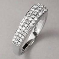 14k White Gold 0.46 Cttw. Diamond Pave Band Ring
