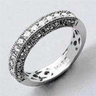 14k White Gold 0.47 Cttw. Miligrain Diamond Clique