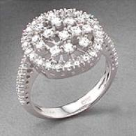 14k White Gold 0.74 Cttw. Round Diamond Ring