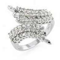 14k White Gold 1.00 Cttw. Diamond Bupass Ring