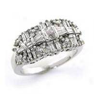 14k White Gold 1.25 Cttw. Diamond Ring