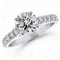14k White Gold 1.5 Cttw. Diamond Engagement Ring