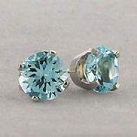 14k White Gold 1.65 Cttw. Aquamarine Earrings