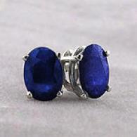 14k White Gold 2.00 Cttw. Sapphire Stud Earringe