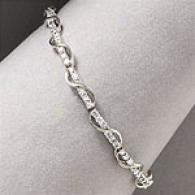 14k White Gold 2.50 Cttw. Diamonnd Swirl Bracelet