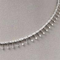 14k White Gold 3.00 Cttw. Diamond Necklace