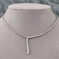 14k White Gold 6.00 Cttw. Journey Diamond Necklace