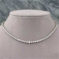 14k White Gold 8.00 Cttw. Diamond Riviera Necklace