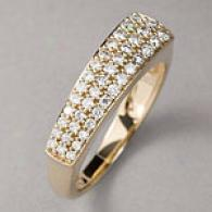 14k Yellow Gold 0.46 Cttw. Diamond Pave Band Ring