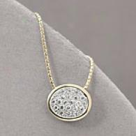 14k Yellow Gold 0.48 Cttw. Brilliant Oval Pendant