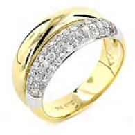 14k Yellow Gold 0.5 Cttw. Diamond Ring
