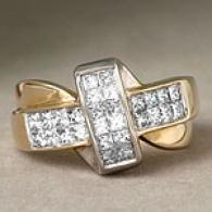 14k Yellow Gold 1.00 Cttw. Diamond Twist Ring