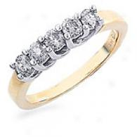 14k Yellow Gold 1.00 Cttw. Diamond Ring - Size 6.5