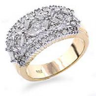 14k Yellow Gold 1.00 Cttw. Diamond Ring - Size 7