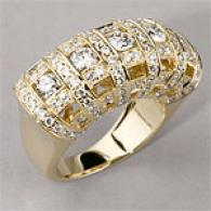 14k Yellow Gold 1.94 Cttw. Diamond Domed Ring
