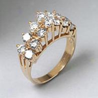 14k Yellow Gold 1.96 Cttw. Diamond Pyramid Ring