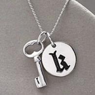 18in Tonic & K Initial Pendant Necklace