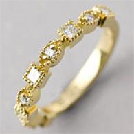 18k 0.38 Cttw. White & Yellow Brilliant Band Ring