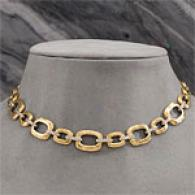 18k 0.52 Cttw. Diamond Link Necklace