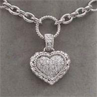 18k 0.63 Cttw. Diamond Heart Necklace