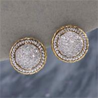 18k 0.75 Cttw. Diamond Button Earrings