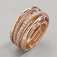 18k 0.97 Cttw. Diamond Criss Cross Ring