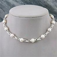 18k 10mm-11mm South Sea Pearl & Diamond Necklace
