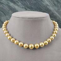 18k 10m-m13mm Graduated Golden South Sea Necklace