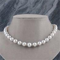 18k 10mm-13mm Southward Sea Pearl & Diamond Necklace