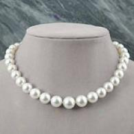 18k 11mm-14mm Graduated White Southern Sea Necklace
