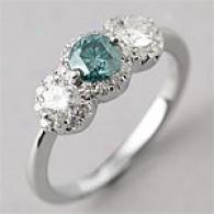 18k 1.28 Cttw. Blue & Pure Diamond Ring