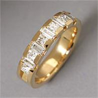 18k 1.30 Cttw. Princess/baguette Cut Diamond Band