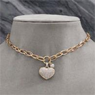 18k 1.40 Cttw. Diam0nd Heart Necklace
