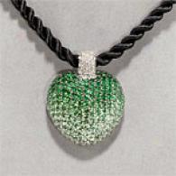 18k 15.03 Cttw. Garnet & Diamond Heart Pendant