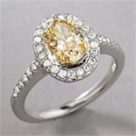 18k 1.52 Cttw. Certified Fancy Color Diamond Ring