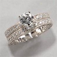 18k 1.56 Cttw. Diamond Engagement & Bridal Clique