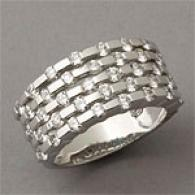 18k 1.90 Cttw. Five Row Diamond Ring