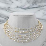 18k 2.00 Cttw. Diamond & Pearl Necklace