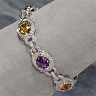 18k 22.80 Cttw. Gemstone & Brilliant Bracelet