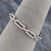 18k 2.40 Cttw. Open Link Diamond Bracelet