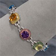 18k 26.65 Cttw. Gemstone & Diamond Bracelet