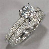 18k 3.03 Cttw Diamond Engagement & Bridal Circle
