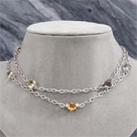 18k 39.37 Cttw. Gemstone & Diamond Neecklace