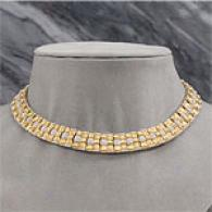 18k & 5.06 Cttw. Diamond Collar Necklace