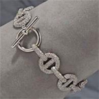 18k5 .97cttw. Diqmond Link Bracelet