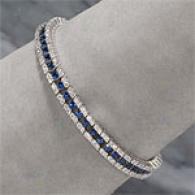 18k 7.89 Cttw. Sapphire & Diamond Bracelet