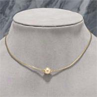 18k 9-10mm Golden South Sea Pearl Station Necklace
