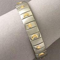18k Accented Celestial Stainless Armor Bracelet